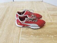 Puma Ferrari US Size 6.5, UK 5.5 Red White Shoes 30516102 Clean Excellent