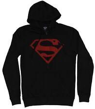Superman (Dc Comics) Mens Hoodie - Logo Faded Classic red S Image