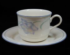 Lenox Chinastone Microwave and Oven Safe Sky Blue Wildflowers Cup and Saucer Set