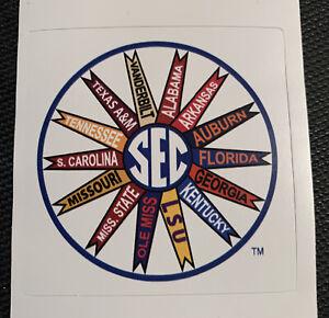 "SEC Pinwheel Logo Sticker 2.8"" x 2.8"" -  College Football Southwestern Gameday"