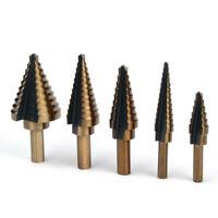 5pcs 50 Sizes HSS High Speed Steel Cobalt Titanium Step Drill Bit Multiple Hole