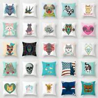 """Polyester 18"""" Heart Animal Pillow Case Sofa Car Throw Cushion Cover Home Decor"""