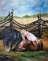 ORIGINAL OIL PAINTING HORSE ART BY UKRAINE ARTIST