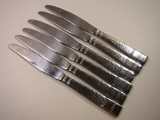 """6 Pc Cambridge Cbs2 Hammered Stainless Dinner Knives 9"""""""