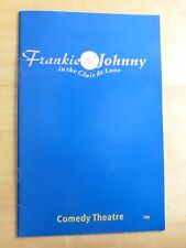 FRANKIE & JOHNNY in the clair de Lune THEATRE PROGRAM 89/90 WITH JULIE WALTERS