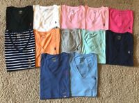 NEW Polo Ralph Lauren Women  Pony Short Sleeve V-Neck T-Shirt Tee