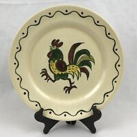 Poppytrail Rooster 10 Inches Dinner Plate California Provincial Metlox Red Green