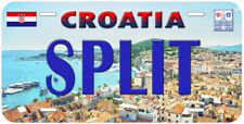 Split Croatia Novelty Car Auto License Plate