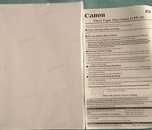 Canon 4 x 6 Photo Paper Plus Glossy II PP-301 50 Sheets  (NEW)