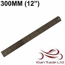 """300mm (12 """") ACCIAIO METALLO LIVELLO Riga doppio marcature metrico e imperiale"""