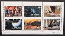 Star Wars Stamps Sheet 6V St Vincent 1996 Movie Scenes Science Fiction Sci-Fi