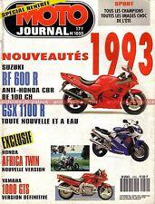 MOTO JOURNAL 1050 YAMAHA GTS 1000 SUZUKI GSX-R 1100 RF 600 HARLEY DAVIDSON 1992