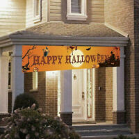 Halloween Hanging Banner Pull Flag Decorations Celebrate Foldable Outdoor Decor