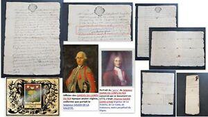 Document 1772 Seigneur DAUDE DE LAVALETTE (1738-1773) Garde du Corps du Roi