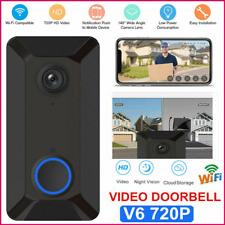 Wireless WiFi Video Doorbell Smart Phone Door Ring Intercom Security Camera 720P
