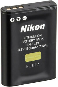 Nikon EN-EL23 Lithium-Ionen Original Akku für Digitalkamera (VFB11702) NEU