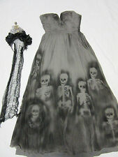 Day of the Dead dress COSTUME size 0 dia de los muertos unique OOAK Halloween
