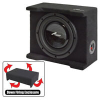 """Audiopipe APSB8BDF Single 8"""" Shallow Downfire Sealed Enclosure With Sub"""