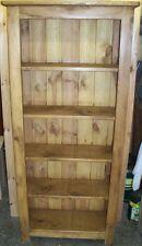 NEW SOLID WOODEN CHUNKY RUSTIC BOOKCASE BOOKSHELVES DISPLAY PLANK PINE FURNITURE
