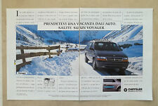 E800- Advertising Pubblicità -1994- CHRYSLER VOYAGER
