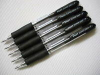 6pcs Pilot retractable 10R super grip 0.7mm ball point pen black(Made in Japan)