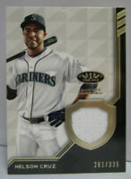 2018 Topps Tier One Baseball NELSON CRUZ Game Used Jersey Relic Card # 261/335