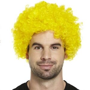 Adult Yellow Clown Wig - Circus - Afro - Party - Fancy Dress Accessory -Carnival