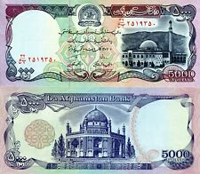 AFGHANISTAN 5000 Afghanis Banknote World Paper Money aUNC Currency Pick p62 1993