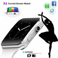 1pc X6 Curved Screen Bluetooth Smart Watch Phone Mate for Samsung/iPhone/Android
