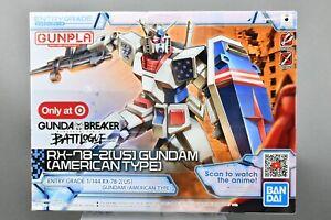 Gundam Breaker Battlogue Model Kit RX-78-2 US Target Bandai American Type 1:144