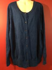 LANE BRYANT Women's Teal Blue Cardigan Sweater - Size 14/16 - NWT $49.95