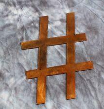 Hashtag Metal Wall Art Accent