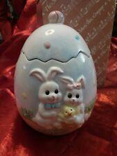 Easter Egg with Bunnies Music Box San Francisco Music Box Company 26-0083