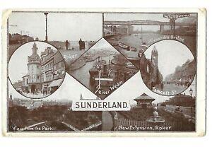 Sunderland - Multiview - Postcard - Posted