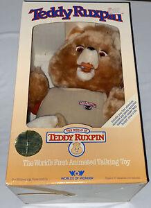 Teddy Ruxpin Animated Talking Bear Worlds of Wonder  1985  Nostalgic NIB