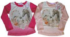 Langarm Mädchen-Tops, - T-Shirts aus Baumwollmischung