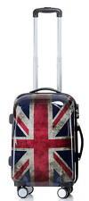 Koffer Trolley Reisekoffer Reisetrolley Hartschale Handgepäck Gr.M BB Union Jack