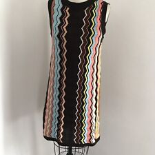 Missoni for Target Knit Dress Sleeveless Flame Stitch A-Line Brown Multi Color S