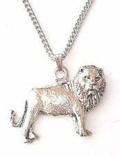 Lion Pendant Handcrafted in Solid Pewter In The UK + Free GiftBox
