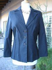 L-O-V-E-!! NWOT $165 BEBE Black White Pinstripe Blazer Coat Jacket Stretchy 12