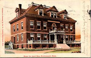 Vtg 1907 Home for Aged Men Newburyport Massachusetts MA Postcard