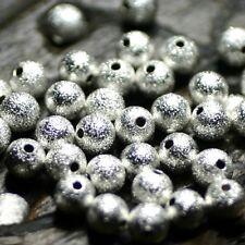 """10 Perles      Boules Granitées      Métal  """"Argenté""""      Ø 6 mm"""