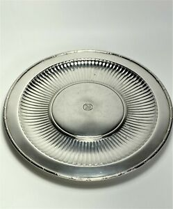 "Heavy 10.5"" Tiffany & Company Makers Sterling Plate Tray Dish c1907-1947 *17ozt*"
