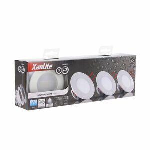 Pack 3 spots LED étanches IP65 salle de bain Xanlite Neufs