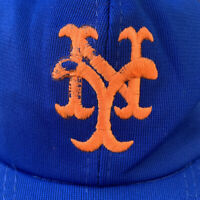 New York Mets Vintage Hat Snapback Cap Trucker Mesh Blue MLB Baseball 90s USA