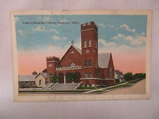 VINTAGE POSTCARD THE FIRST CHRISTIAN CHURCH IN SHAWNEE OKLAHOMA 1924