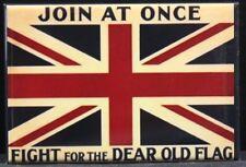 Union Jack Vintage British Flag War Propaganda Poster Fridge / Locker Magnet.