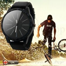 Mens Watch Fashion Stainless Steel Luxury Sport Analog Quartz Wrist Watch New UK