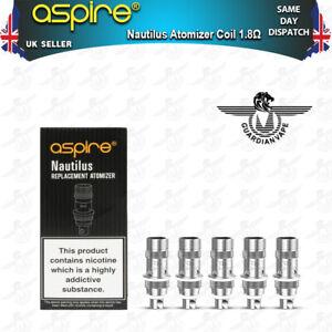 ASPIRE NAUTILUS COILS 1.8 OHM - PACK OF 5