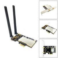 Mini PCI-E Express to PCIE Wireless WiFi Adapter Antenna AC Board Green Z1Q6